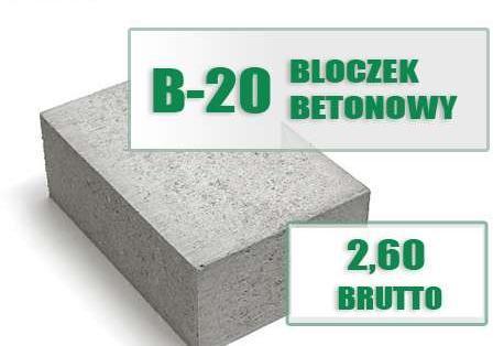 Bloczek betonowy fundamentowy bloczki betonowe fundamentowe trasport bloczków cementowe cementowy budowlany pustak pustaki