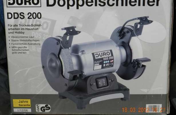 Doppelschleifer DDS200 szlifierka stołowa dwutarczowa NOWA