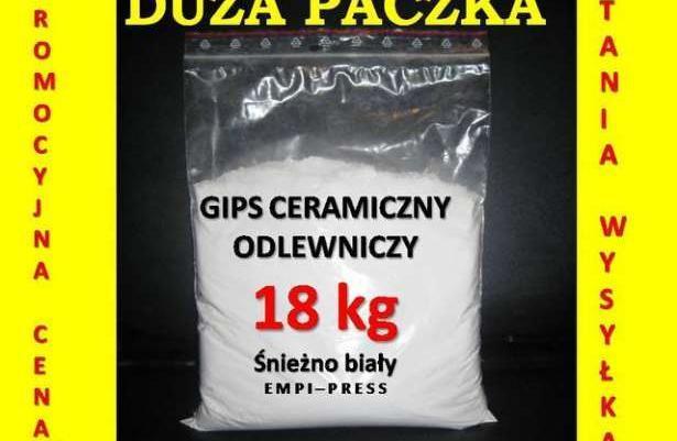 GIPS CERAMICZNY odlewniczy do odlewów w formach tanio 18kg XL