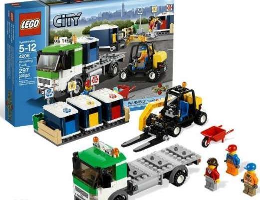 LEGO 4206 CITY smieciarka ekologiczna z koszami