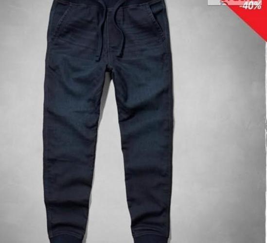 Abercrombie Hollister Spodnie Męskie Joggers USA L WallyGoo Nowy produkt