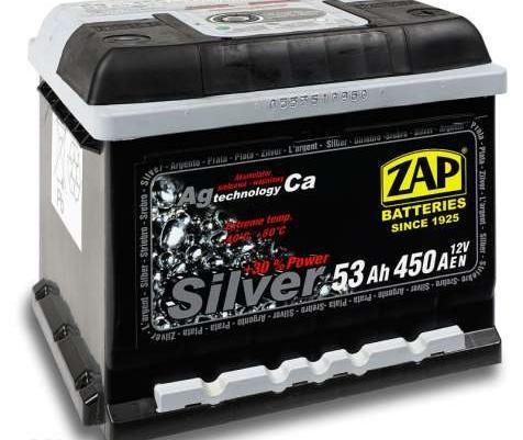 Akumulator ZAP Sznajder Silver 12V/53Ah/450A