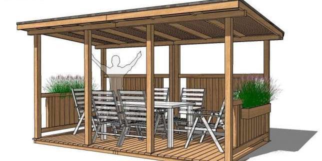 Projekt Altany Ogrodowej Prostokatnej Q Housepl