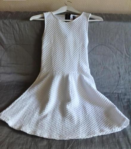Biała sukienka 158 S bawełna