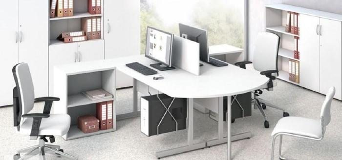 Białe meble biurowe biurka_regały_szafy_lady_kontenery_wiesz aki Nowy produkt