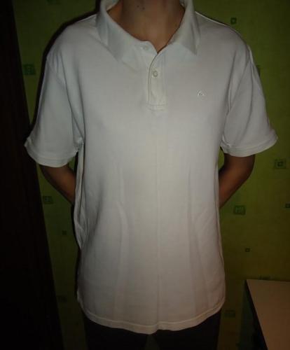 białe polo XL