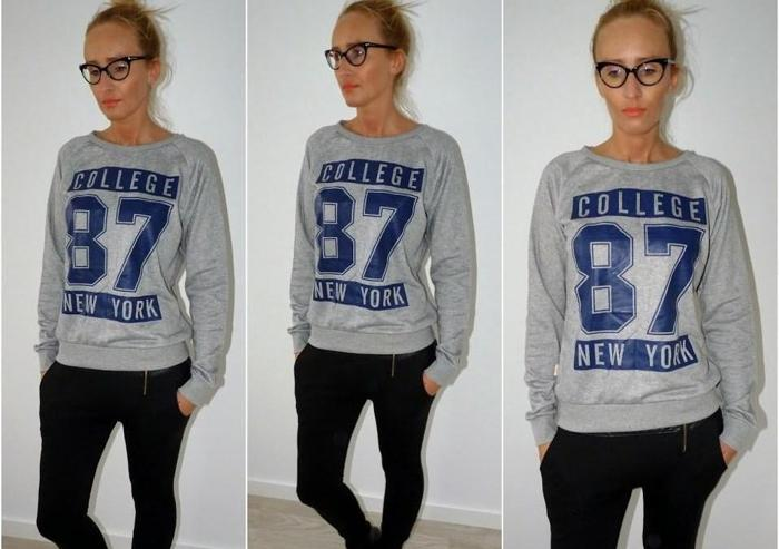 BLOGERSKA bluza COLLEGE 87 New York oversize Nowy produkt