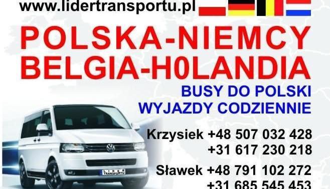 Busy do Niemiec i Holandii. Przewóz osób i paczek.