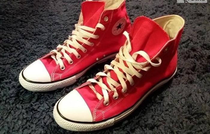 Converse All Star czerwone TRAMPKI 45 - 29cm Okazja!