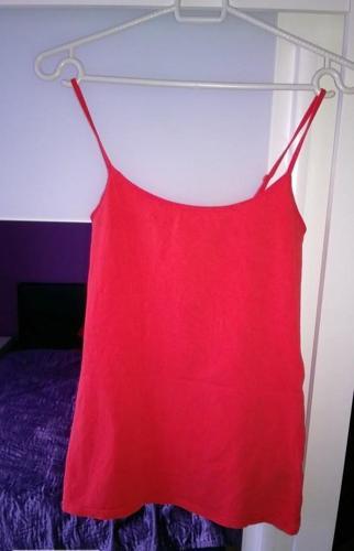 Czerwona tunika/sukienka na ramiączkach h&m rozm.S Nowy produkt