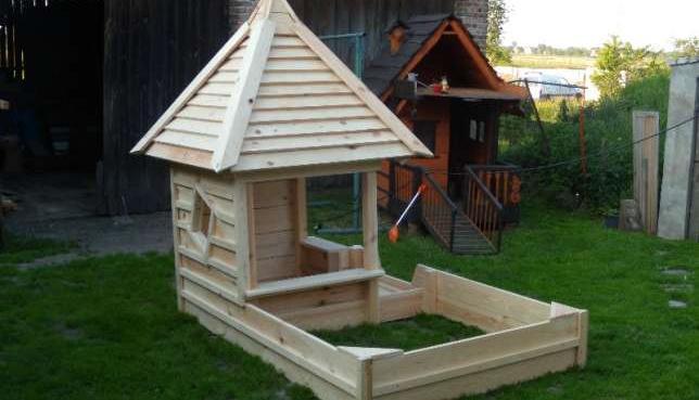 Topnotch Domek i piaskownica z drewna dla dziecka sprzedaż - Ożarów WL06