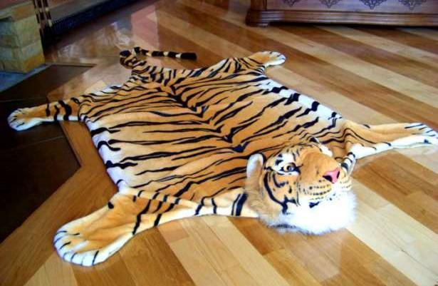 Dywan Tygrys Z Głową Do Pokoju Dziecka 150x130cm Sprzedaż
