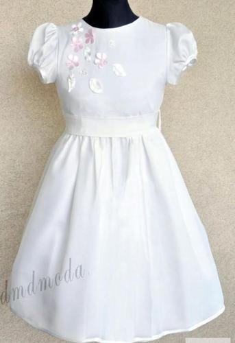 Elegancka biała sukienka dla dziewczynki Lila Nowy produkt