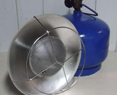 Bardzo dobry Grzejnik,Promiennik gazowy,Słoneczko.Do butli gazowych np.2-3 kg JM85