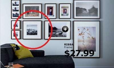 Ikea Ribba Czarna Rama Duża Ramka Na Plakat Zdjęcie