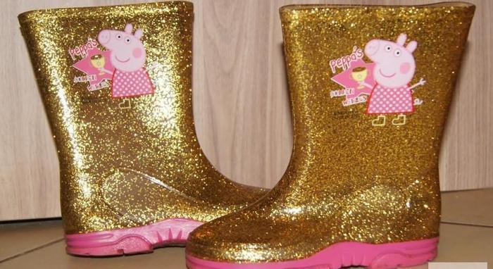 Kalosze dziewczynka Świnka Peppa złoto rozm 28