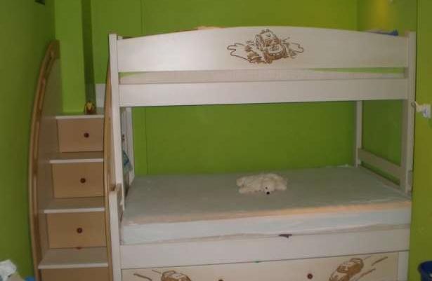 łóżko Piętrowe 3 Osobowe Z Prawdziwego Drewna Jedyne W Swoim