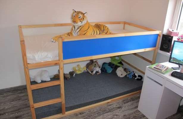 łóżko Piętrowe Ikea Kura2materacebaldachim Sprzedaż