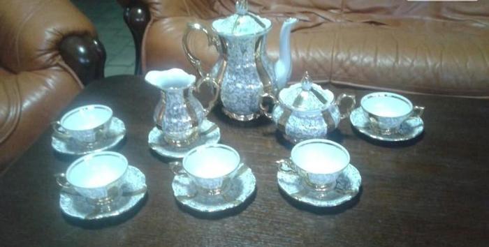 komplet kawowy porcelanowy