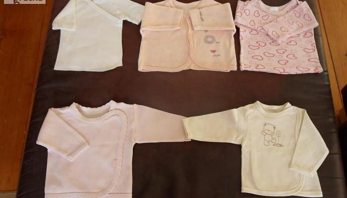 Koszulki dla niemowlaka rozm. 56/62 szt. 4 + kaftanik rozm. 62