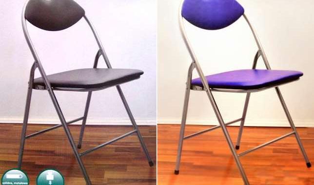 Krzesło Składane Wygodne I Praktyczne Kolor Niebieski