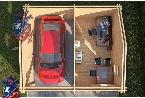 Lcpgis161 Dom Domek Drewniany Logcabinspolska Garaż Narzędziowy