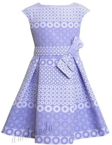 Letnia niebieska sukienka dla dziewczynki Nowy produkt