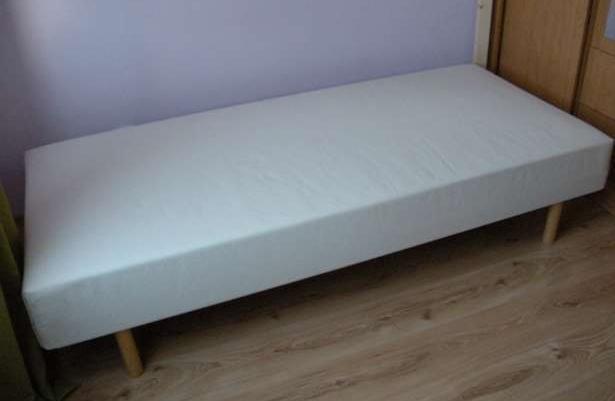 Materac łóżko Na Drewnianej Ramie 90200 Ikea Stan Bdb