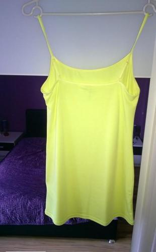 Neonowa cytrynowa tunika/sukienka na ramiączkach h&m rozm.S Nowy produkt