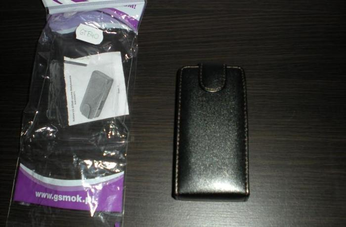 Nowa obudowa do telefonu LG GT540 czarna zapinana na magnez Nowy produkt