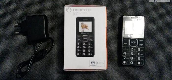 NOWY telefon MANTA dla seniorów + GRATIS Nowy produkt