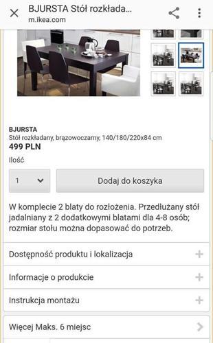 OKAZJA! Nowy porządny stół rozkładany Ikea za pół ceny,Tanio! NOWY Nowy produkt