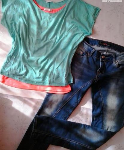 Paka spodni 7szt. jeansy rurki eko-skóra NOWE! S M