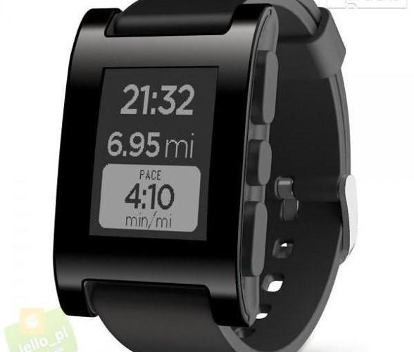 Pebble Smart Watch - czarny - Bluetooth 4.0 model 301BL