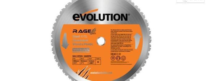 Piła widiowa TCT wielozadaniowa Evolution RAGE 255mm. Nowy produkt