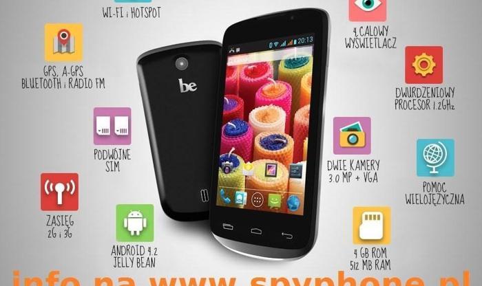 Podsłuch szpieg SPY-PHONE z telefonem be Social Dual sim SUPER OKAZJA Nowy produkt
