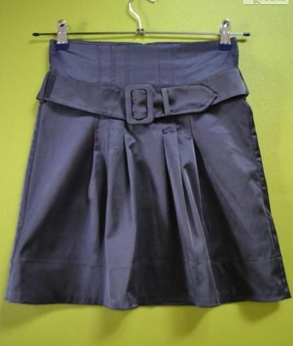 Spódniczka z paskiem szara MINI 36 H&M
