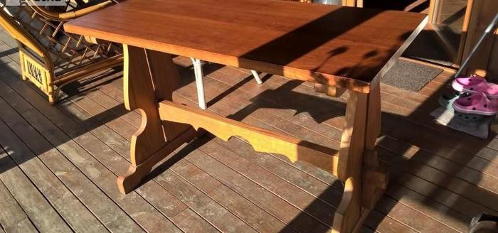 Stół stolik ława dębowa dębowy lite drewno 53x120