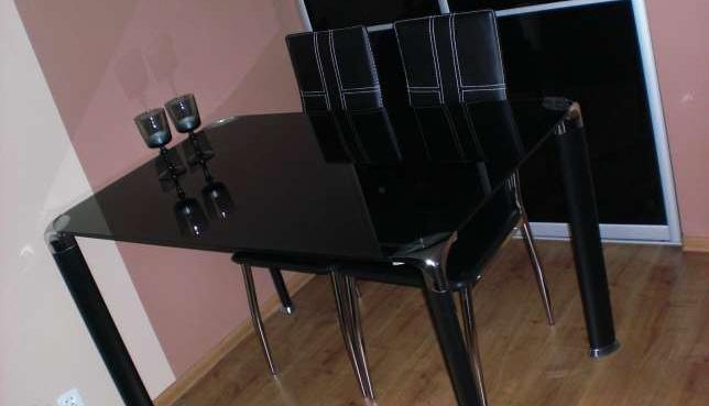 Stół Szklany Czarny Black Red White Sprzedaż świdnica