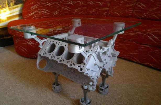 Stolik Stół V8 Z Aluminiowego Bloku Silnika Bmw 4litry 286km