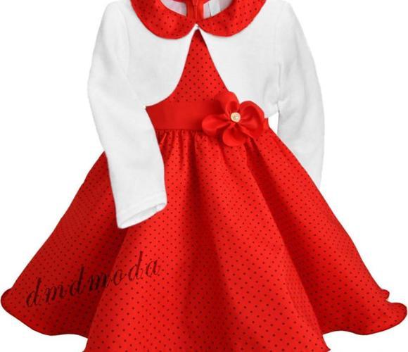 Sukienka Amelka z dzianinowym bolerkiem Nowy produkt