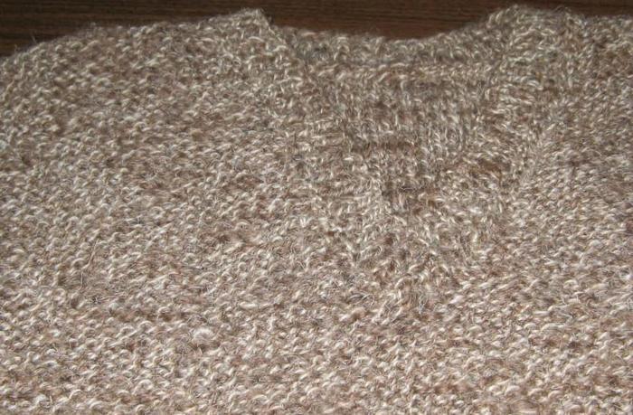 Sweter męski melanż z włóczki rustykalnej Phildar