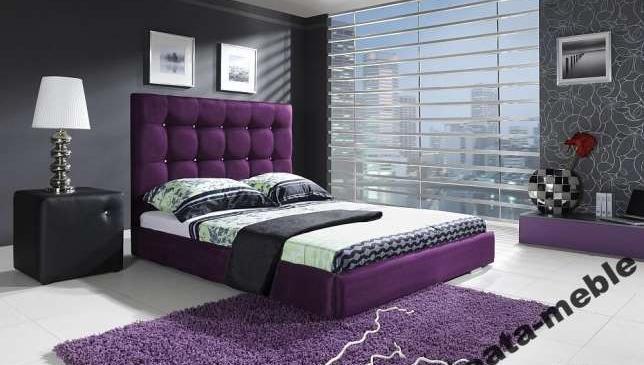 Sypialnia łóżko Tapicerowane Classic Materac 160 Cm Beata