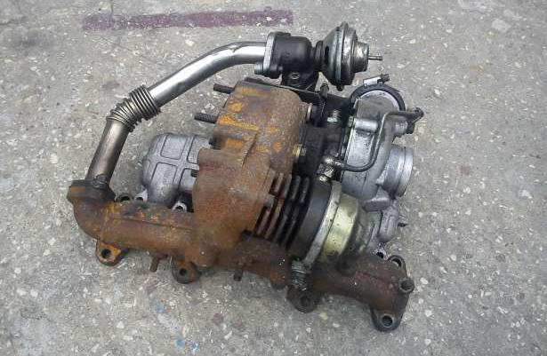 Turbosprerzarka kolektor audi 80 vw