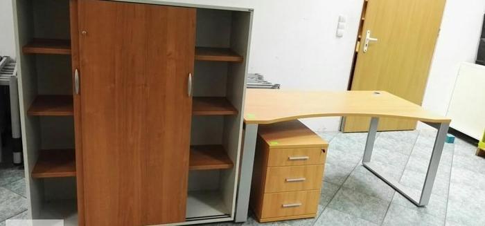 zestaw mebli Maro+Balma ( biurko,szafa, kontener