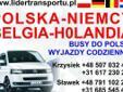 LIDER-TRANS1 Przewóz osób Polska, Niemcy, Holandia, Polska. Obsługujemy województwa warmińsko-mazurskie, pomorskie , zachodniopomorskie ,wielkopolskie-częściowo i kujawsko-pomorskie-częściowo. Jeździmy trasami 1-Olsztyn, Ostróda, Elbląg, Malbork, Tczew,